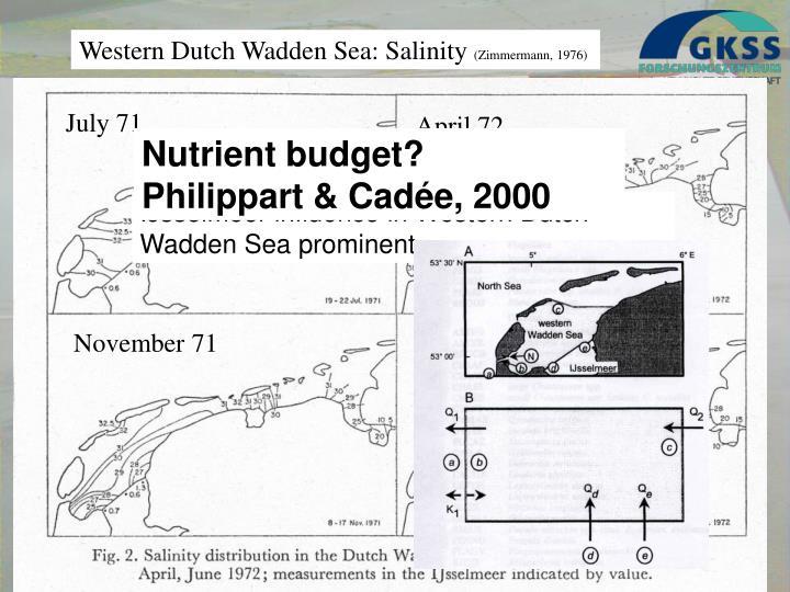 Nutrient budget?
