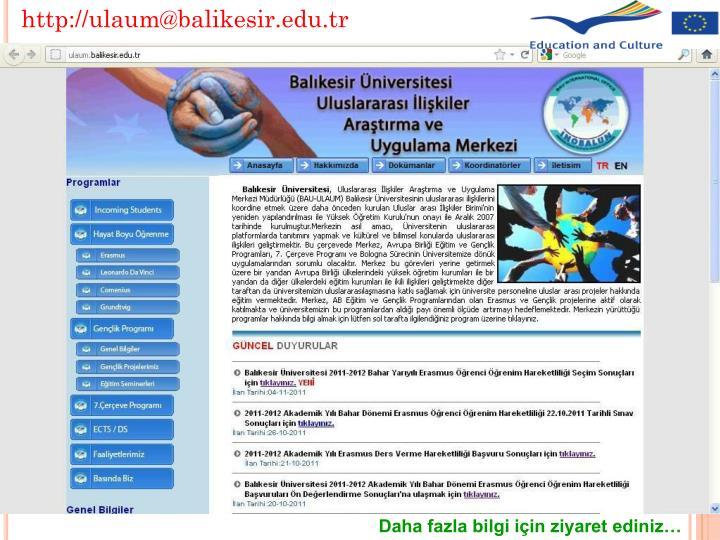 http://ulaum@balikesir.edu.tr