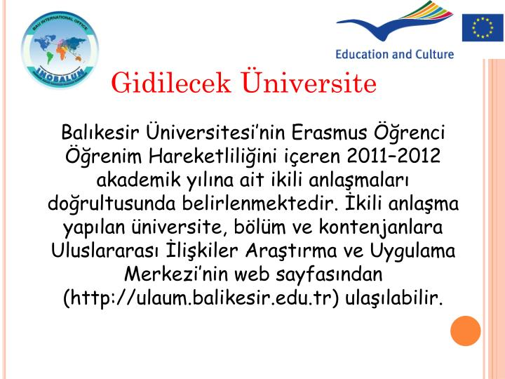 Gidilecek Üniversite