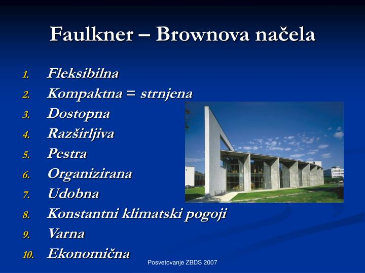 Faulkner – Brownova načela