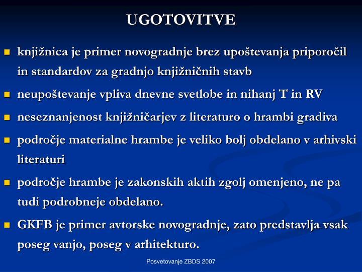 UGOTOVITVE