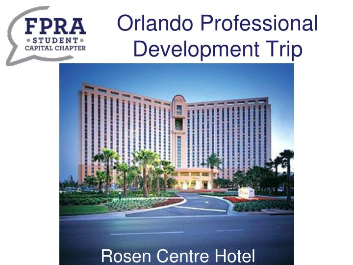 Orlando Professional Development Trip