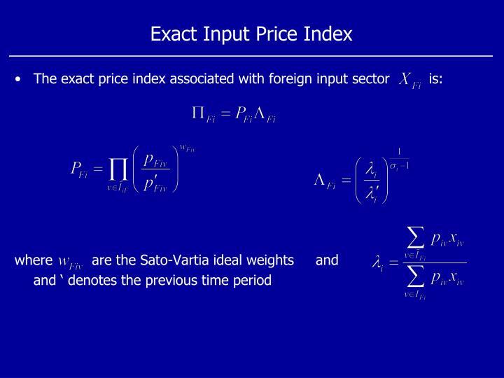 Exact Input Price Index
