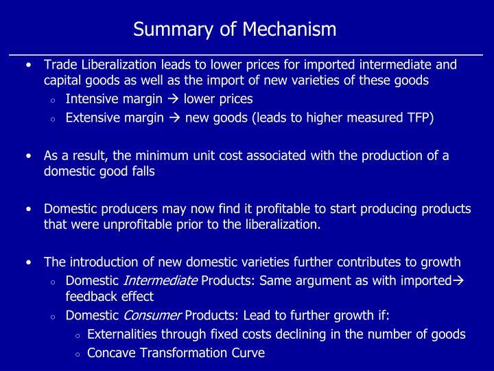 Summary of Mechanism