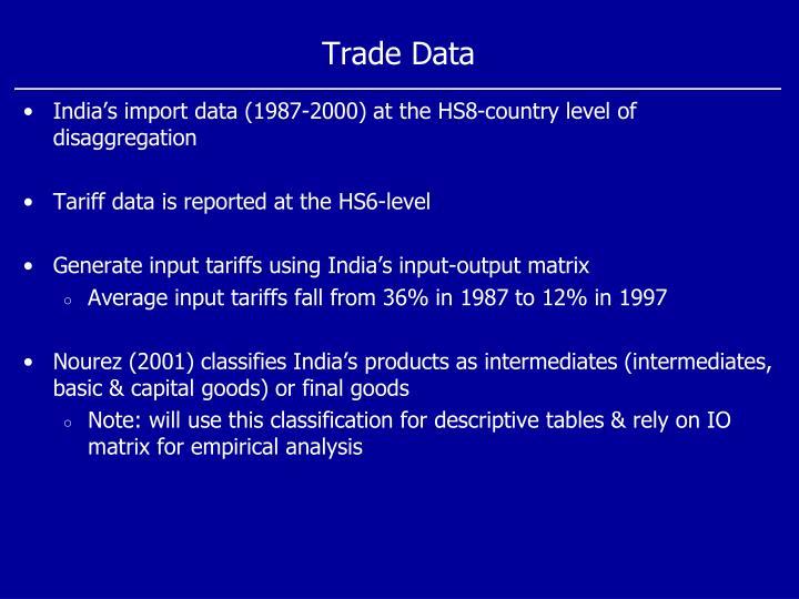 Trade Data