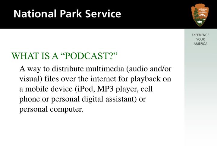 "WHAT IS A ""PODCAST?"""