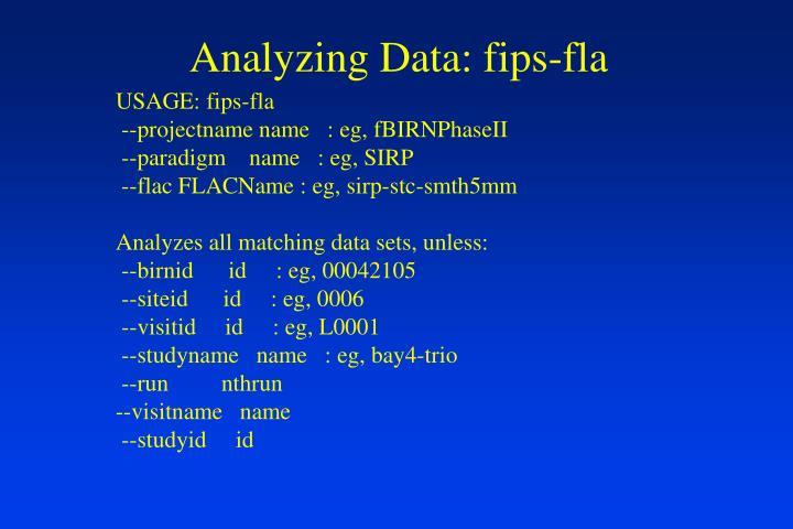 Analyzing Data: fips-fla
