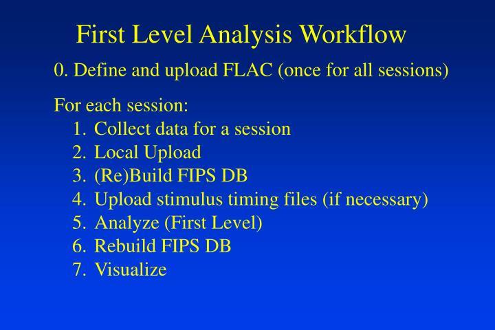 First Level Analysis Workflow