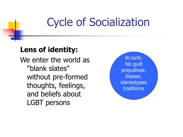 Cycle of socialization1