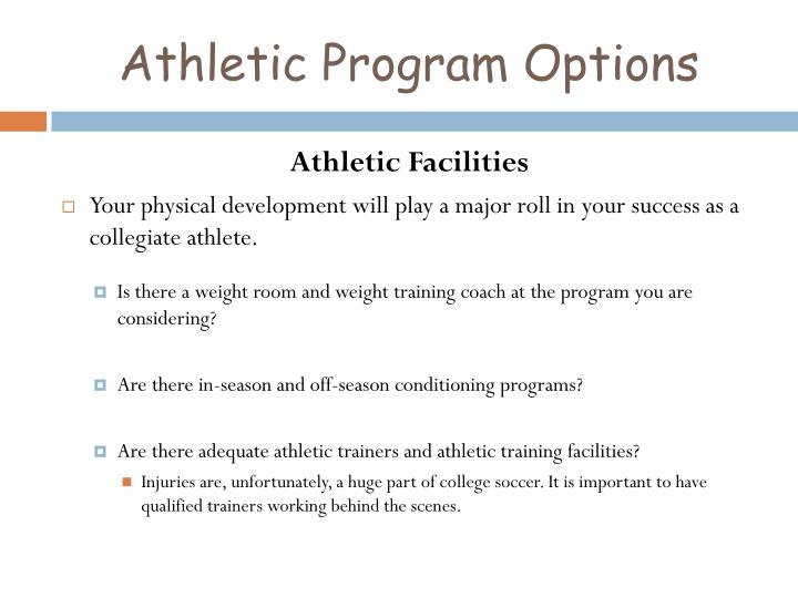 Athletic Program Options