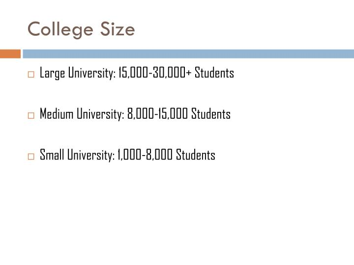 College Size