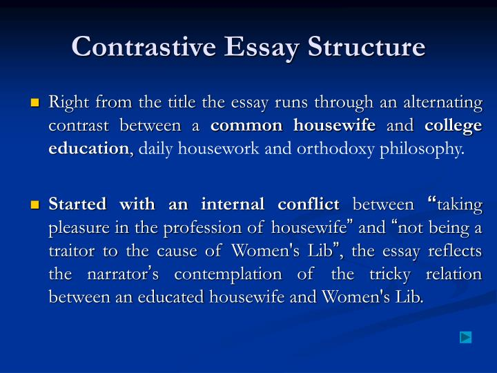 Contrastive Essay Structure