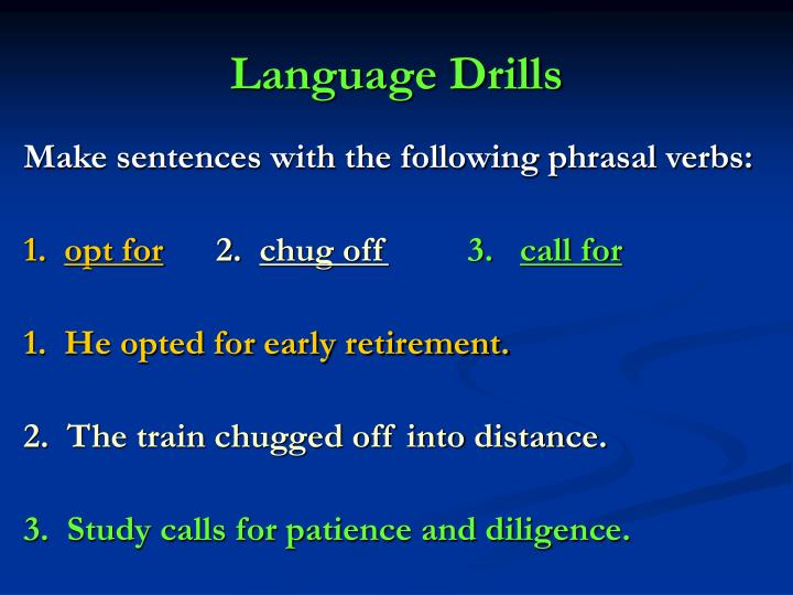 Language Drills