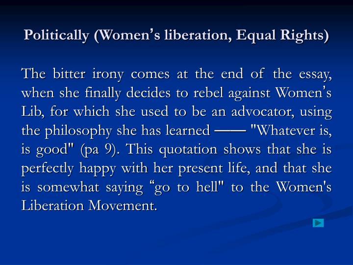 Politically (Women