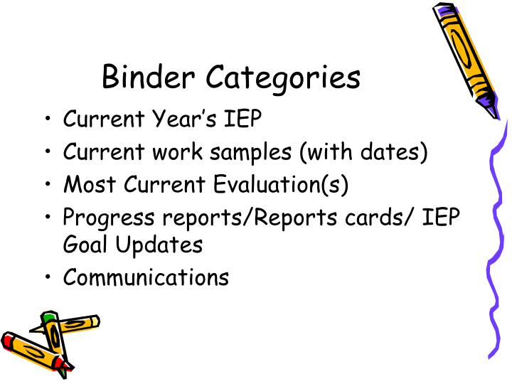 Binder categories