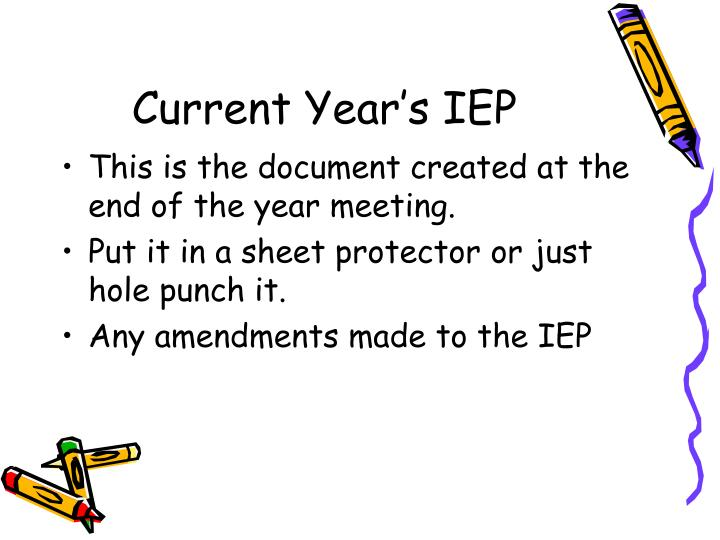 Current Year's IEP
