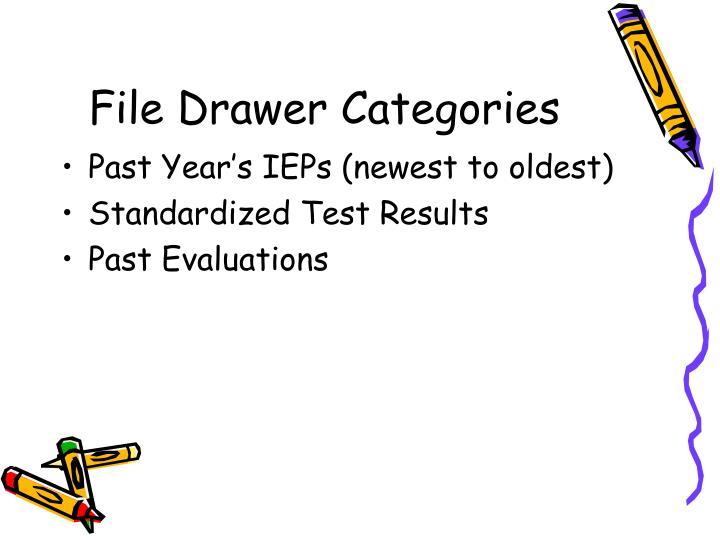 File Drawer Categories