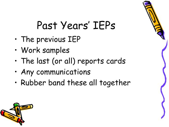 Past Years' IEPs