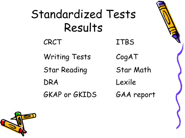 Standardized Tests Results