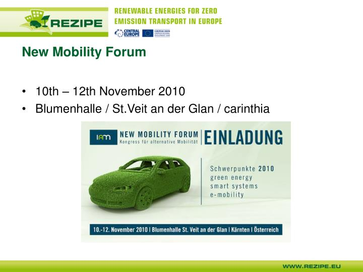 New Mobility Forum