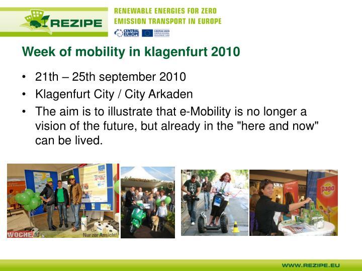 Week of mobility in klagenfurt 2010