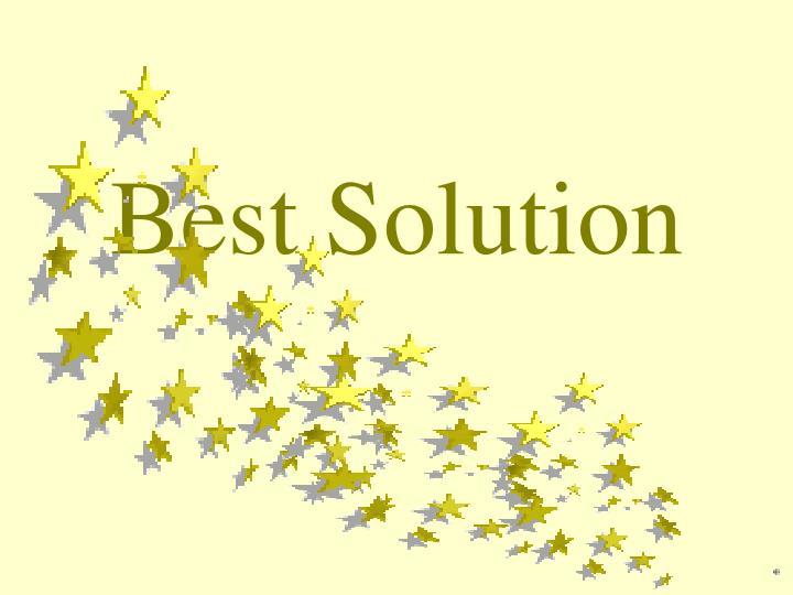 Best Solution