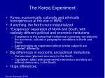 the korea experiment