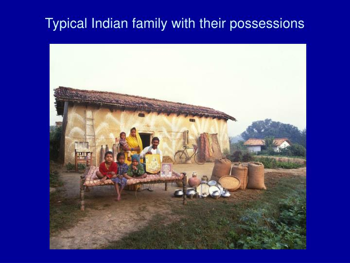 Typical Indian family with their possessions