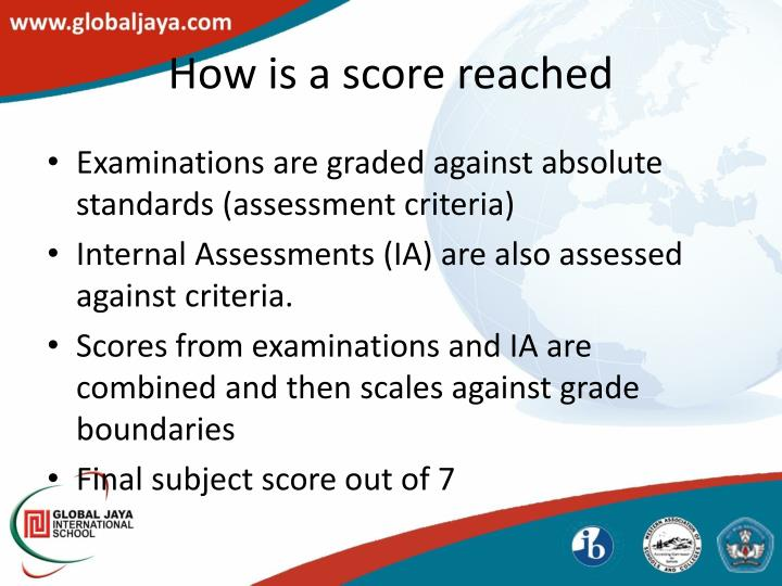 How is a score reached