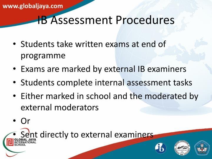 IB Assessment Procedures