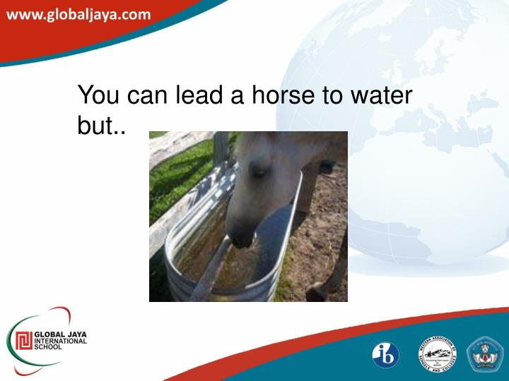 You can lead a horse to water but..