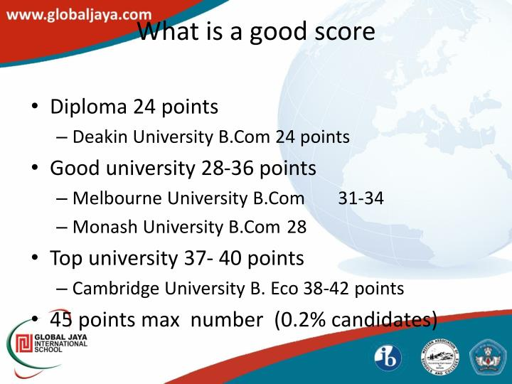 What is a good score
