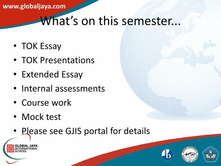 What's on this semester...