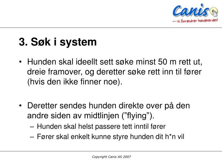 3. Søk i system