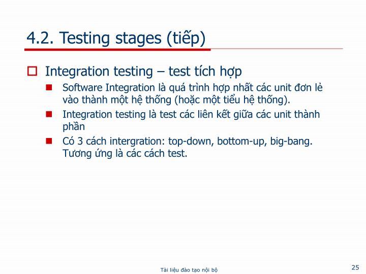 4.2. Testing stages (tiếp)