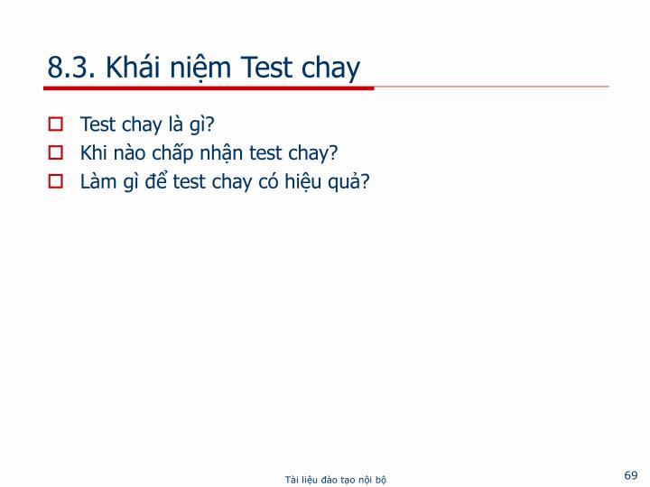 8.3. Khái niệm Test chay