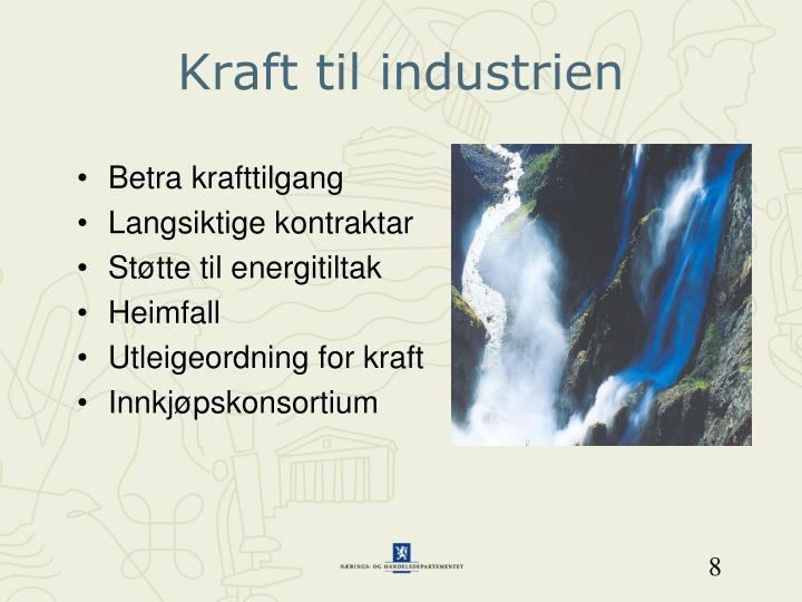Kraft til industrien