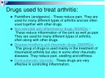 d rugs used to treat arthritis