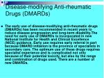 disease modifying anti rheumatic drugs dmards