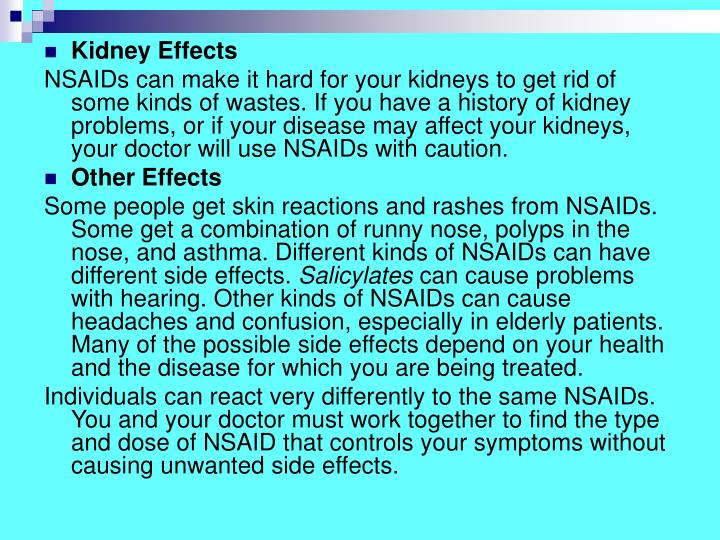 Kidney Effects