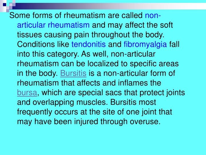 Some forms of rheumatism are called