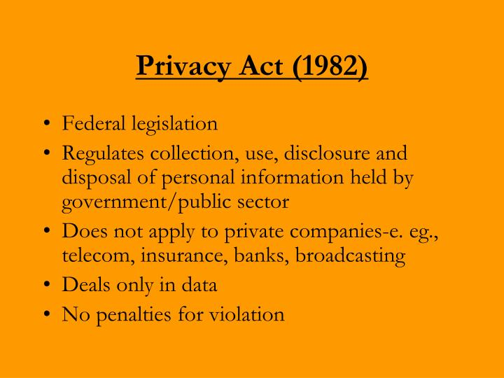 Privacy Act (1982)