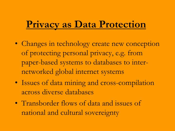 Privacy as Data Protection