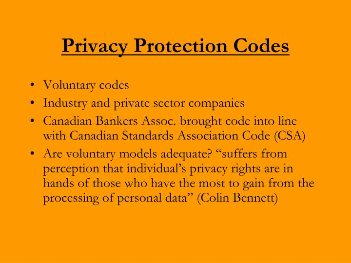 Privacy Protection Codes