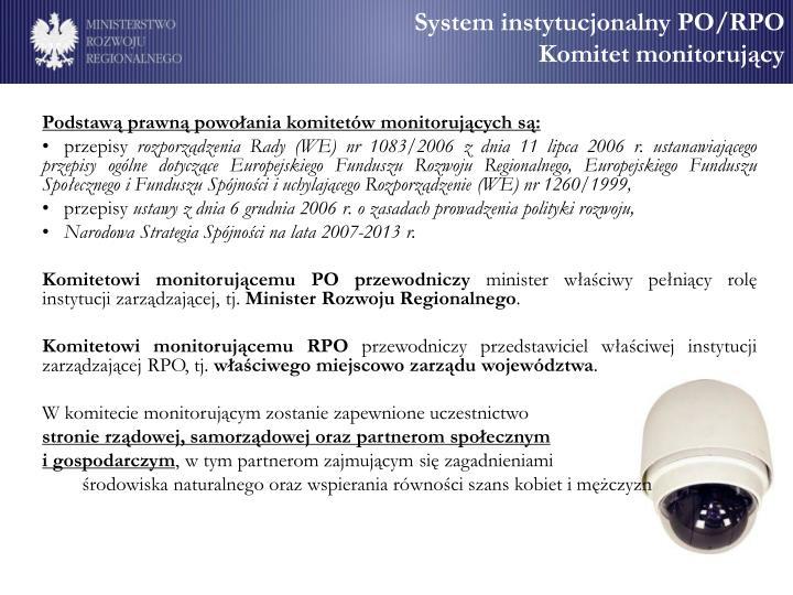 System instytucjonalny PO/RPO