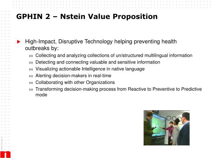 GPHIN 2 – Nstein Value Proposition