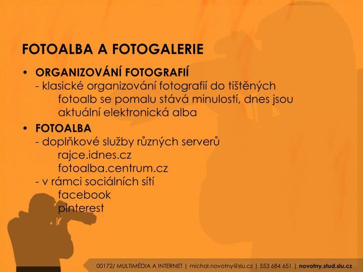 FOTOALBA A FOTOGALERIE