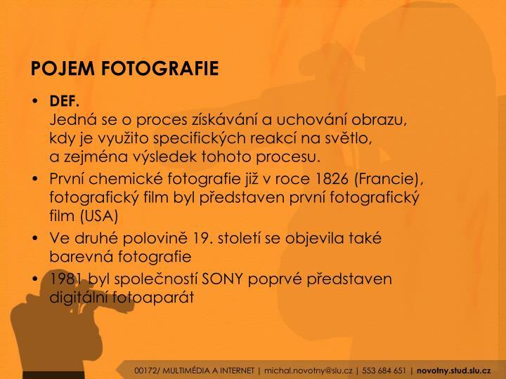 POJEM FOTOGRAFIE