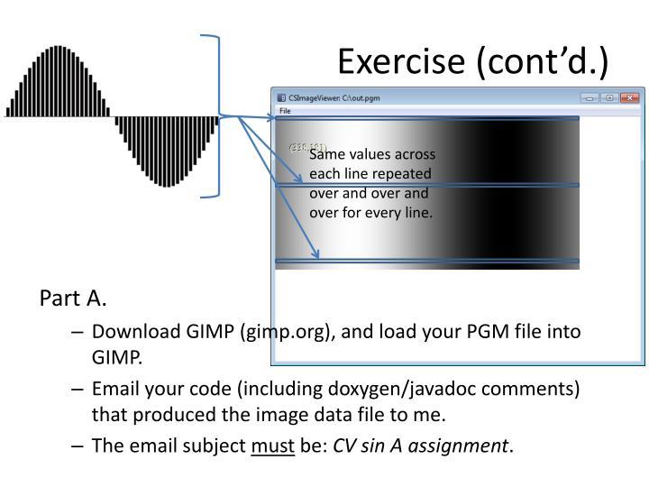 Exercise (cont'd.)