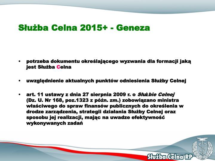 Służba Celna 2015+ - Geneza